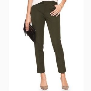 Banana republic Sloan ankle pant in dark green